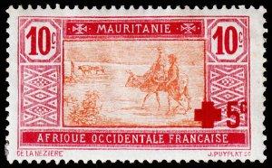 Mauritania Scott B1 (1915) Mint H F-VF C