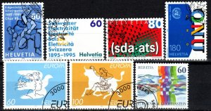 Switzerland #954-60 F-VF Used CV $6.10 (X2403)