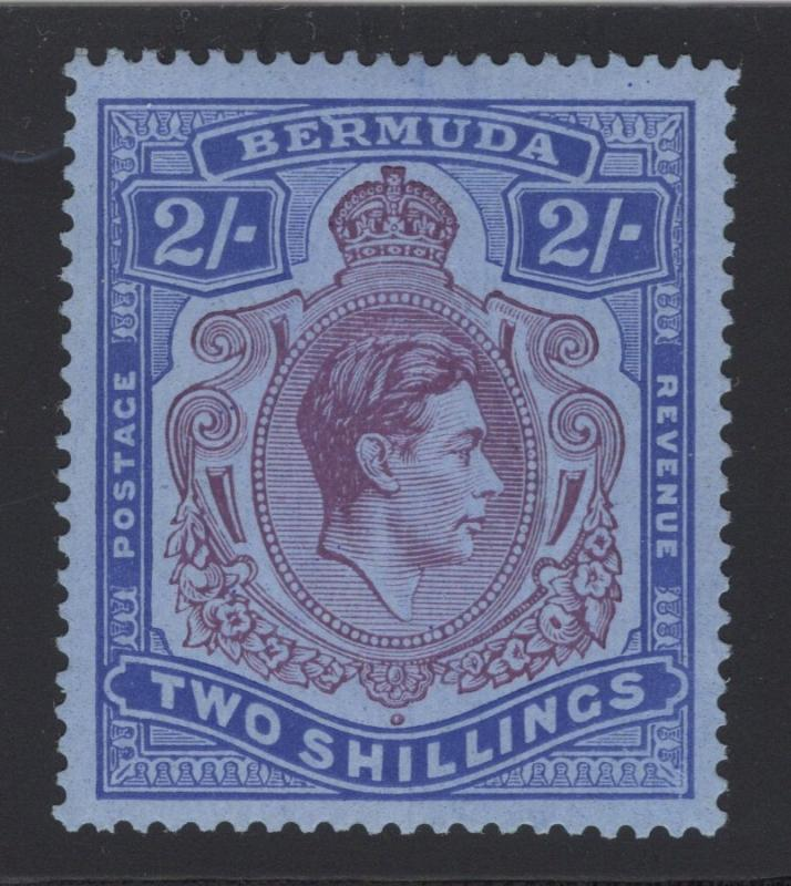 Bermuda #123a - 2 Shilling - Ultra & Violet on Blue - O.G. - L.H.