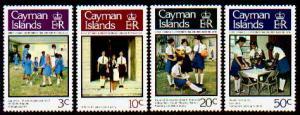 CAYMAN ISLANDS – Sc# 396-399 Girls' Brigade; MNH