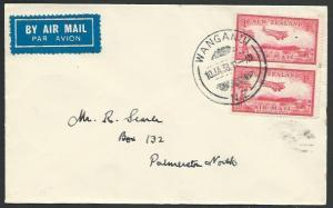 NEW ZEALAND 1938 first flight cover Wanganui - Palmerston North............56777