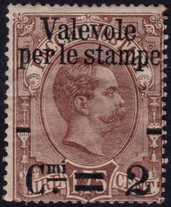 Italy 1890 - Parcel issue with new value  - Sc. 63 * MH - $22.50