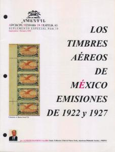 G)1995 MEXICO, AIR MAIL IN MEXICO 1922-1927, AMEXFIL SPECIAL