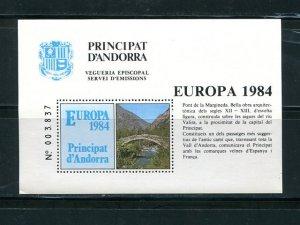 Sp. Andorra  Europa  1984 sheet   VF NH - Lakeshore Philatelics