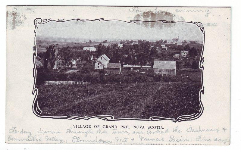 Z620 1905 canada halifax n.s.grand pre king stamped postcard to hudson N.H.