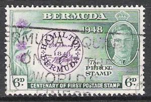 Bermuda #137 Stamp On Stamp Used