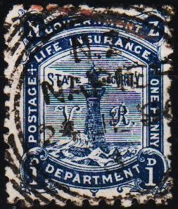 New Zealand. 1891 1d S.G.L14  Fine Used