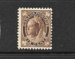 CANADA 1897-98  6c   QV    MNH    Sc 71
