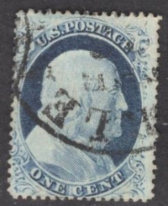 US Stamp #23 1c Franklin Type IV USED SCV $700