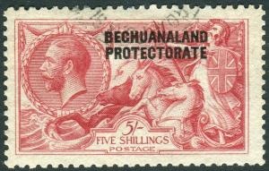 BECHUANALAND-1920 5/- Rose-Carmine.  A fine used example Sg 89