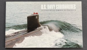 US 2000 Navy Submarine Booklet with text & 2 panes of stamps 3373-7