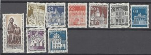 COLLECTION LOT # 2503 GERMANY BERLIN 9 MNH STAMPS 1966+ CV+$10