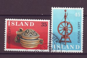 J25449 JLstamps 1976 iceland set used #490-1 europa