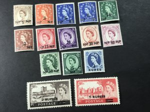 MUSCAT/OMAN # 79-93-MINT NEVER/HINGED-----COMPLETE SET------1960-61