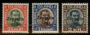 Iceland Graf Zeppelin C9-C11 Islandfahrt Stamp Set MNH 93140