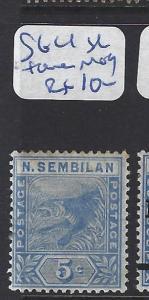 MALAYA NEGRI SEMBILAN   (P0807BB) TIGER   5C  SG 32 TONED   MOG