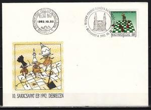 Hungary, Scott cat. 3376. European Chess Championship issue. First day cover.