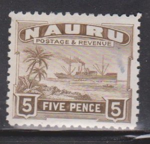 NAURU Scott # 24 MH - Ship Palm Trees & Beach