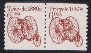 2126 Tricycle F-VF MNH transportaion coil pair