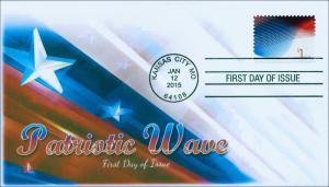 NEW 2015, Patriotic Wave, 1 Dollar Postage, FDC, Item 15-001