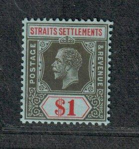 Straits Settlements Sc#165 M/VLH/VF, Die 1, Cv. $21