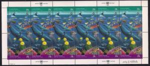 UN NY 604a & Switz 215a & Aust. 128a MNH - Clean Oceans SS