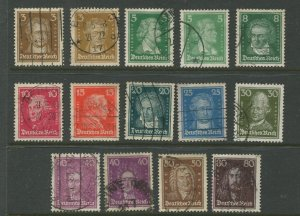 STAMP STATION PERTH Germany #351-362 General Issue Used 1926-27 Set of 12