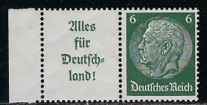 Germany Reich Scott # 419, label A9, mint nh, se-tenant, W66