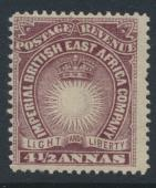 British East Africa Company  SG11a  SC#21  Mint Hinged - perf 14 -  see details
