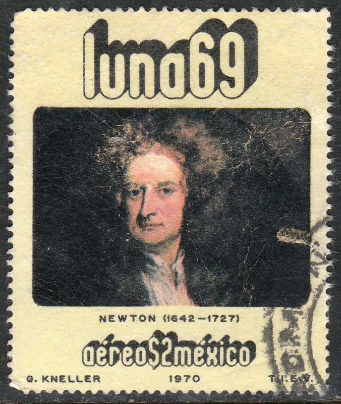 MEXICO C377, Physists and Astronomers - ISAAC NEWTON. Used. VF. (1275)