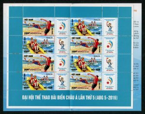 HERRICKSTAMP NEW ISSUES VIET NAM Sc.# 3558b 5th Asian Beach Games 2016 Booklet
