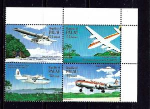 Palau C13a MNH 1985 Airplanes Block of 4