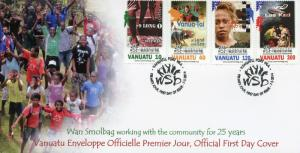 Vanuatu 2014 FDC Wan Smolbag Int Theatre Festival 25th Anniv 4v Set Cover