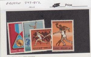 J25838  jlstamps 1969 greece set mnh #949-52 sports, all checked & sound