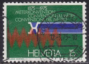 Switzerland 599 USED 1975 Standard Meter,Krypton Spectrum...