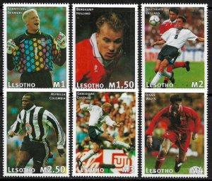Lesotho #1071-6 MNH Set - World Cup Soccer