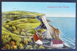 1929 Hasting England Picture Postcard Cover To Vancouver Canada Ecclesbourne