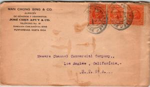 Costa Rica 1921 Chinese Merchant Cover to USA - Z12781