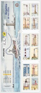 H01 France 2019 Landmarks of our coasts - Stamp Booklet