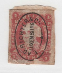 Luxembourg Local Post? Faulty (bottom) orig Backing? stamp 6-6-21 Printed Cancel