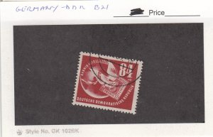J25968  jlstamps 1950 germany DDR set of 1 used #b21 dove, all checked