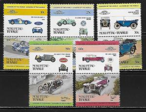 Tuvalu Nukufetau 2, 6-8, 10 Cars part set MNH