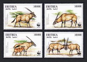 Eritrea WWF Beisa Oryx 4v SG#319-322 MI#87-90 SC#261 a-d CV£8