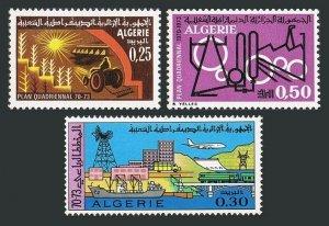 Algeria 431-433,MNH.Michel 540-442. Four-year Development Plan,1970.