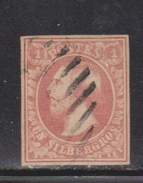 LUXEMBOURG Scott # 2 Used - 4 Clear Margins - Very Nice Stamp