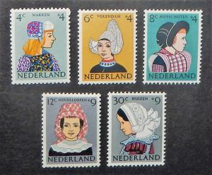 Netherlands B348-52. 1960 Costumes, NH