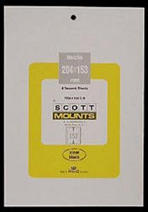 Prinz Scott Stamp Mount 204/153 - BLACK Background - Pack of 5