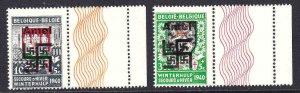 BELGIUM B264-B265 AMEL OVERPRINTS OG NH F/VF BEAUTIFUL GUM WITH LATHEWORK