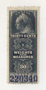 Canada Revenue Weights & Measures Stamp; #FWM48-20c UNC. Guide Value = $40.00