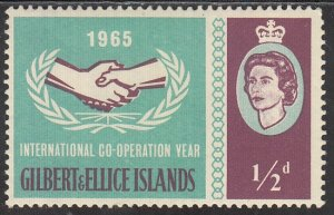 Gilbert & Ellice Islands, Sc 104, MNH, 1965, Int'l Cooperation Year